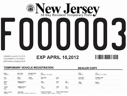Temporary License Plate Printable Nj Tags Texas