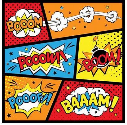 Superhero Comic Printables Birthday Invitations Labels Strip