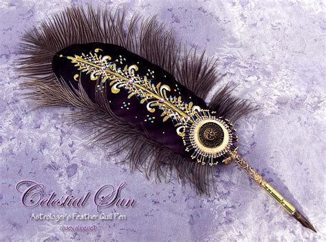 celestial sun astrologers feather quill