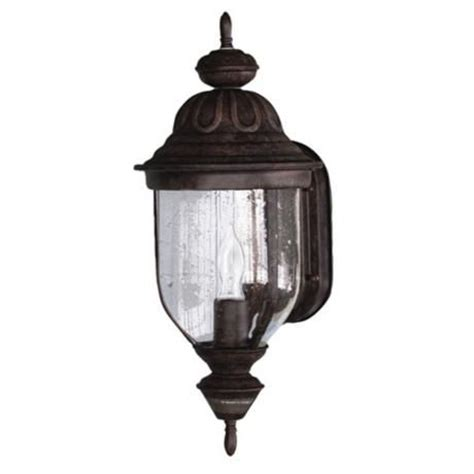 motion sensor 18 3 4 quot high rustic brown outdoor light with