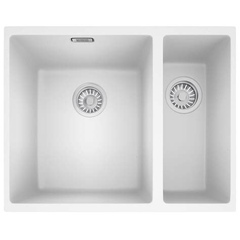 franke sirius sid 160 tectonite 1 5 bowl white undermount sink