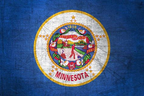 minnesotan flag metal flag  minnesota