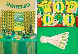 Kara's Party Ideas Oregon Ducks Football Sports Boy