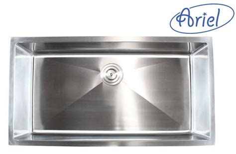 36 undermount kitchen sink ariel 36 inch stainless steel undermount single bowl 3884