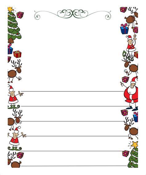 christmas letter templates  printable festival