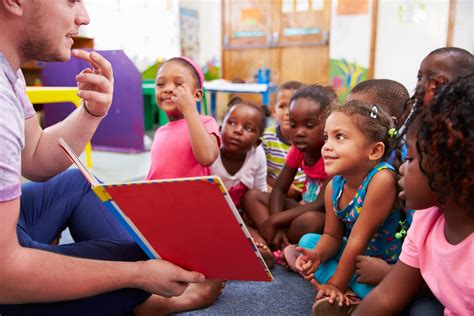 the benefits of early childhood education degree programs 478   bigstock Volunteer teacher reading to a 98584742