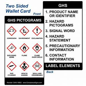 ghs chemical hazard labels With ghs label signal words