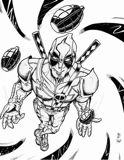 Deadpool Coloring Pages Printable Super Wolverine Imprimer