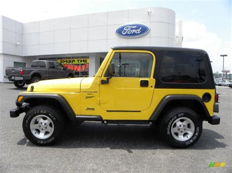 yellow jeep interior 2000 solar yellow jeep wrangler sport 4x4 32177891 photo