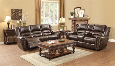 homelegance reclining sofa reviews homelegance center hill reclining sofa set dark brown