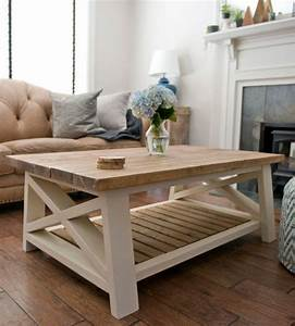 best 25 farmhouse coffee tables ideas on pinterest how With cream and wood coffee table