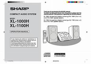 Sharp Xl  Operation Manual  U2014 View Online