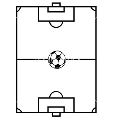 soccer field template football pitch template black and white clipart best