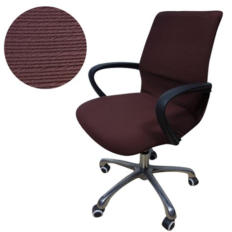 jacquard stripe computer office chair cover side zipper