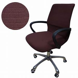 jacquard stripe computer office chair cover side zipper With armchair side covers