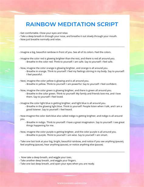 Rainbow Meditation For Kids Dawn Selander For Kids