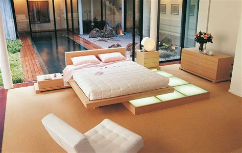platform bed furniture beech wood platform bed interior design ideas