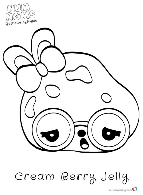 Kleurplaat Num Noms by Num Noms Coloring Page For Free Free Printable Coloring