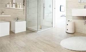 salle de bain avec carrelage imitation parquet beige With imitation carrelage salle de bain