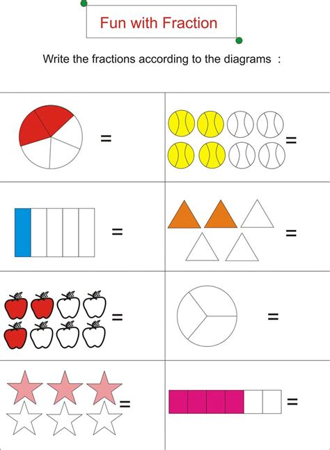 Free Fraction Worksheets Worksheet Mogenk Paper Works