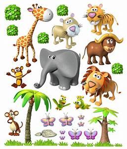 Stickers Animaux De La Jungle : animaux de la jungle africaine ~ Mglfilm.com Idées de Décoration
