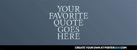 Facebook Cover Quote Generator Postergencom