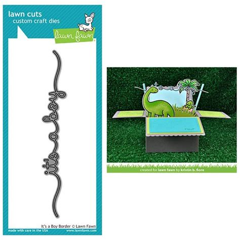 lawn fawn dies it s a boy border lf1380 lawn cuts steel craft cutting dies