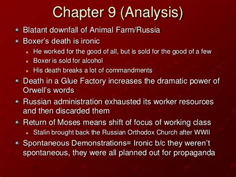 Animal Farm Resume Per Chapter by Animal Farm Chapter 9