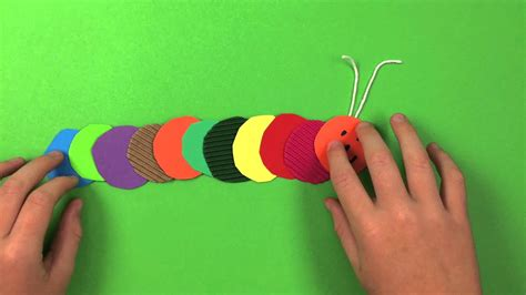 caterpillar  easy craft project youtube