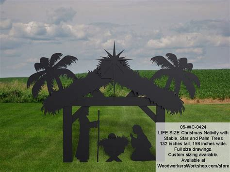 wc  nativity life size silhouettes yard art