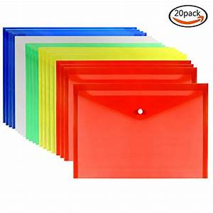 loves 20pcs premium quality poly envelope document With document folder with snap button