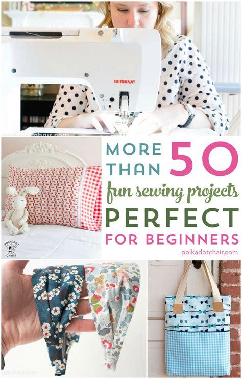 fun beginner sewing projects  polka dot