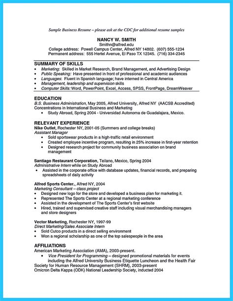 Business Management Resume by The Most Excellent Business Management Resume