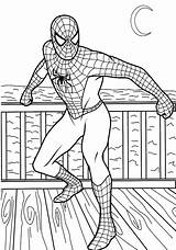 Coloring Pages Spiderman Super Hero Colouring Printable Superheroes Boys Printables sketch template