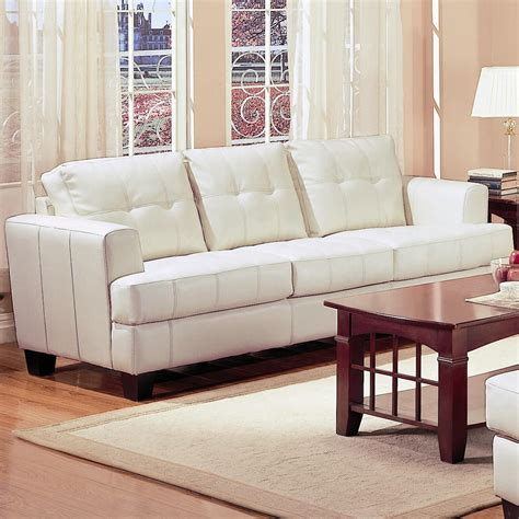 ashley furniture white leather sofa 694 95 samuel contemporary leather sofa in white