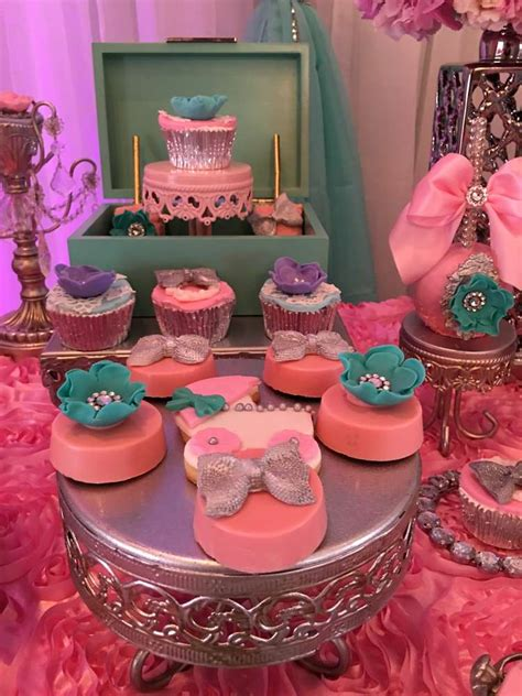 teal  pink modern chic baby shower baby shower ideas
