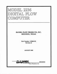 Daniel Model 2236 Digital Flow Computer Owner U0026 39 S Manual