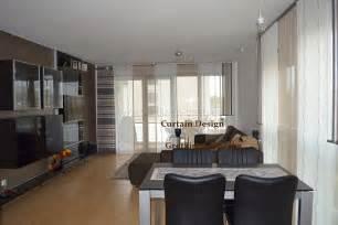 schiebegardinen wohnzimmer langer wohnzimmer schiebevorhang in braun gardinen deko
