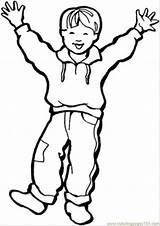 Boy Little Happy Coloring Pages Coloringpages101 sketch template