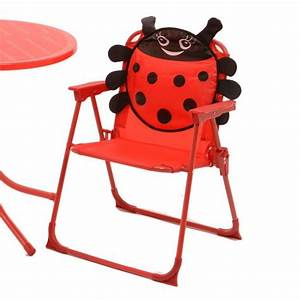 Salon De Jardin Pour Enfant : salon de jardin pour enfant coccinelle rouge mobilier ~ Dailycaller-alerts.com Idées de Décoration