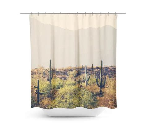 Cactus Shower Curtain - cactus shower curtain desert home decor rustic bathroom