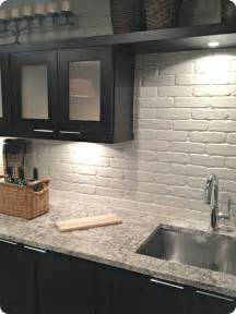Kitchen With Brick Backsplash Remodelaholic 15 Diy Kitchen Backsplash Ideas