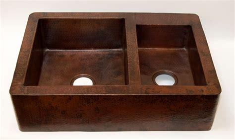 romano italian fireclay sinks 33 quot copper kitchen farmhouse sink apron front 60 40 doubel