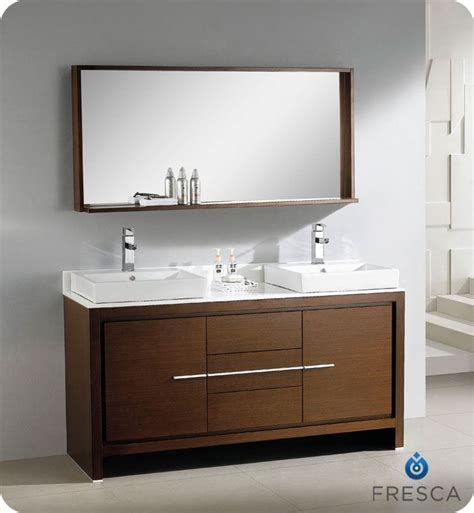 Modern Bathroom Sink And Mirror by Equipment Fresca Allier 60 Quot Wenge Brown Modern