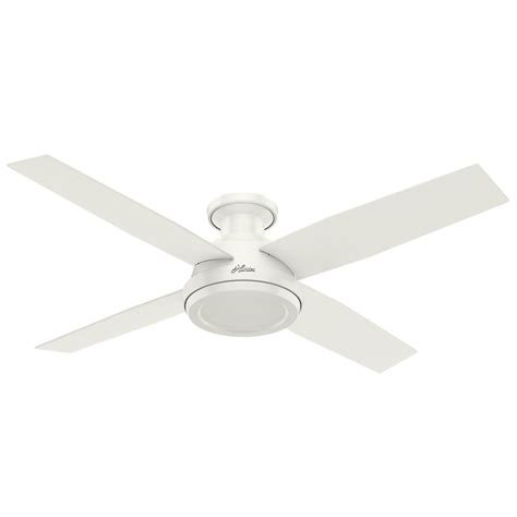 low profile white ceiling fan hunter dempsey 52 in low profile no light indoor fresh