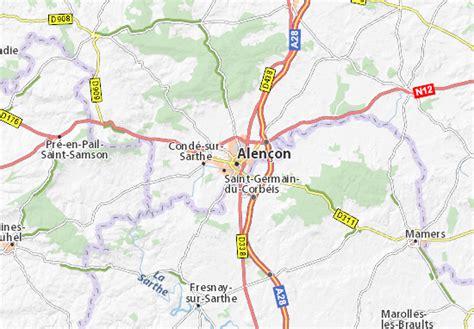 Carte Normandie Michelin by Carte D 233 Taill 233 E Alen 231 On Plan Alen 231 On Viamichelin