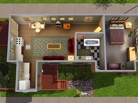 Sims 3 Floor Plans Small House by Small Sims House Plans House Design Plans