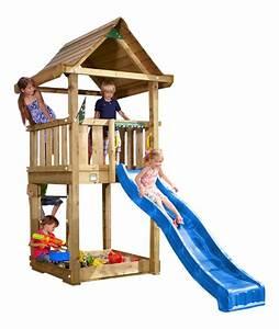 Spielhaus Garten Mit Rutsche : jungle gym spielturm house kletterturm mit rutsche ~ Watch28wear.com Haus und Dekorationen