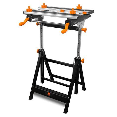 ft adjustable tilting steel portable workbench  vise
