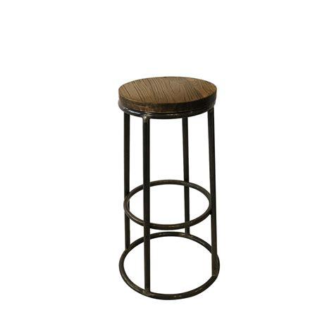 table haute de cuisine avec tabouret tabouret de bar indus bois métal fredo par drawer fr